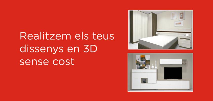 Realizamos tus diseños en 3D sin coste
